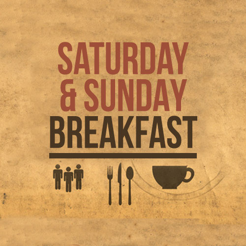 Saturday Breakfast 9.00am - Noon